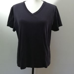 Land's End V-Neck Short Sleeve Shirt XLP